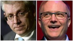 NDP MPs Charlie Angus, left, and Peter Julian, right, have registered with Elections Canada as leadership candidates for their party. The first leadership debate will be held March 12.