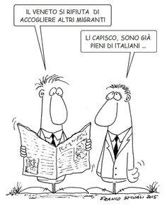 #IoSeguoItalianComics #Satira #Veneto #migranti #italiani #immigrazione
