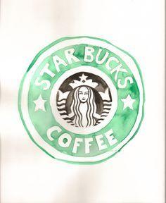 Starbucks Logo Drawing Tumblr Black And White Coffee