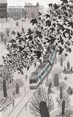 Disturbance - incredibly striking #illustration #art by Alesya Nesolënova
