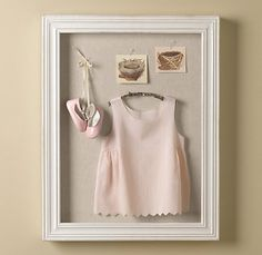 I want to put D's first birthday outfit and an invite in a shadow box