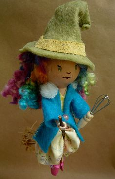 Kitchen Witch Clothespin Doll for Mom | Made for my mom for … | Flickr - Photo Sharing!