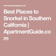 Best Places to Snorkel in Southern California | ApartmentGuide.com