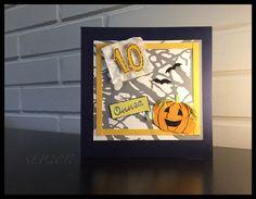 Halloween -teemainen syntymäpäiväkortti.