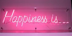 'Happiness is.' Neon by Rob Court Creative Neon, London - TGIs Friday! Neon Light Signs, Neon Signs, Disco Licht, What Is Happiness, Neon Words, Light Quotes, Neon Aesthetic, Aesthetic Space, Quote Aesthetic
