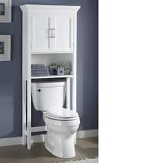 A clean look for a pristine bathroom retreat. One open shelf and one adjustable shelf in cabinet magnetic cl.Decorate Now, Pay Later with Country Door Credit! Bathroom Shelf Decor, Small Bathroom Storage, Bathroom Styling, Bathroom Furniture, Bathroom Ideas, Open Shelving, Adjustable Shelving, Bedroom Door Decorations, Design Your Own Home