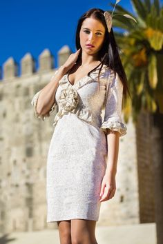 #Vestido Estampado Corto #Káhyra Pasamaneria #kahyra #moda #ropa