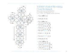 TATtle TALES Tatting Patterns: Tatting Bookmark TATBiT's Shoestring Cross Pattern Video Chat