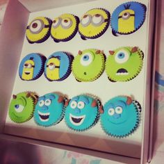 Minions and monsters cupcakes