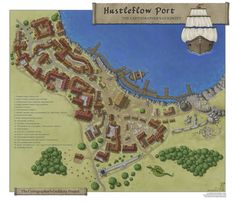 Fantasy City Map, Fantasy World Map, Fantasy Town, Plan Ville, Cartographers Guild, Village Map, Building Map, Adventure Map, Dungeons And Dragons Homebrew