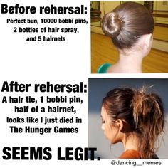 Haha so true! I destroyed one of my buns just during a warm up once...hey what's with that spelling of bobby pin? geez people