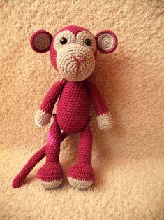 Háčkovaná opička na přání (30 cm) / Zboží prodejce Paaia | Fler.cz Opi, Teddy Bear, Animals, Animales, Animaux, Teddy Bears, Animal, Animais