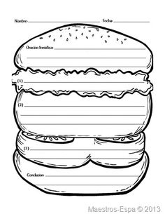 Hamburger paragraph worksheet paragraph writing pinterest teaching kiddos how to write a paragraph is pretty tasty with this helpful template helps students focus on including a topic sentence supporting details ccuart Choice Image