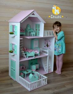 Doll House with Storage Bins Dreamhouse Barbie, Barbie Doll House, Barbie Dream House, Barbie Furniture, Dollhouse Furniture, Kids Furniture, Modern Dollhouse, Diy Dollhouse, Cardboard Dollhouse