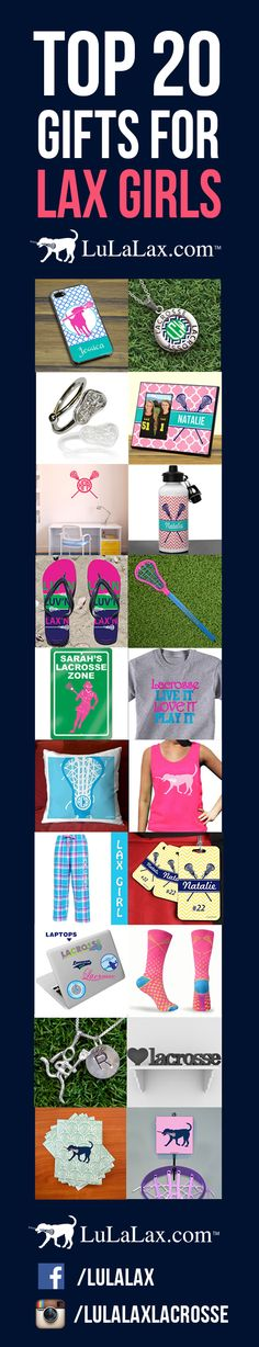 LuLaLax's Top 20 List of Gifts for Lax Girls! From pinnies to room decor, we have everything a lacrosse girl could want! #lacrosse #laxgirl #lulalax
