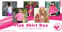 Today is Pink Shirt Day, a day where we celebrate kindness and stand up against bullying. Share your photos in PINK and let us know your Girl Empowerment, Stand Up, Bullying, Your Photos, Polaroid Film, Celebrities, Day, Pink, Shirts