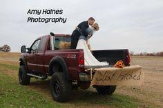 Always a truck, Ford, diesel, wedding day