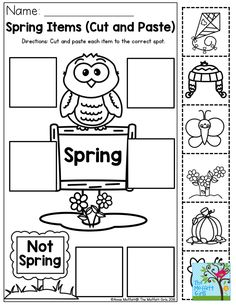 Spring Items- Have your students identify items that are commonly found in spring! This would go well in a weather unit or a seasons lesson.