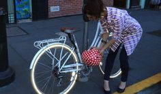 Red/Blue Reflective Bike to Work Shirt-Dress | Betabrand ($106 on sale)