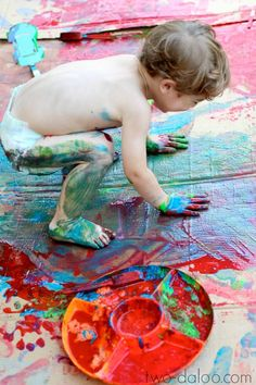 Create magic scented foaming paint with just two ingredients for a fun sensory play and art experience for kids!