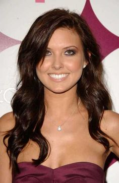 Dark brown hair with a tad hint of red. My hair usually pulls red anyways.. I like this