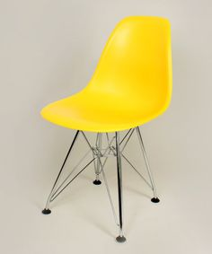 Take a look at this Yellow Steel Mid-Century Kids' Side Chair - Set of Two by Controlbrand on #zulily today!