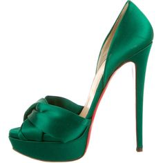 Pre-owned Christian Louboutin Platforms Pumps ($475) ❤ liked on Polyvore
