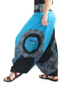 Harem Pants - Aladdin with prints - Afghani Alibaba Pants - Men - Women - Cotton…