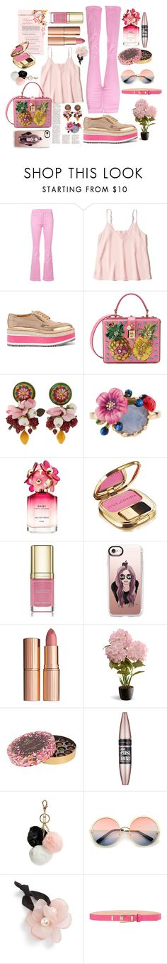 """""""Prada Brogues"""" by pulseofthematter ❤ liked on Polyvore featuring Givenchy, Hollister Co., Prada, Dolce&Gabbana, Les Néréides, Marc Jacobs, Casetify, Charlotte Tilbury, National Tree Company and Godiva"""