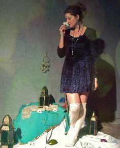 90s nostalgia - Dark Blue Velvet Mini Dress - Night Sky Darling - size 7 US, 37 EU