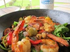 Tiger Prawn, Chorizo & Chickpea Stew