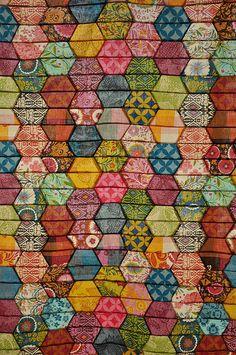 Anna Maria Horner (Good Folks)...half hexagon quilt by batixa, via Flickr