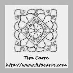 Julieta e uma leitura sobre inclusão Social com um Square de Crochet