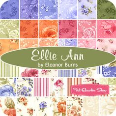 Ellie Ann Charm Pack Eleanor Burns for Benartex Fabrics  That peachy color is cool!!