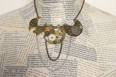 Steampunk Watch Part Necklace