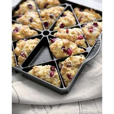 The makers of the original Bundt® pan are behind this clever pan that produces 16 perfect triangular wedges of scones, cornbread, brownies, quiches and more. Durable cast-aluminum pan features a proprietary, premium nonstick finish for perfect release of baked goods and easy cleanup.