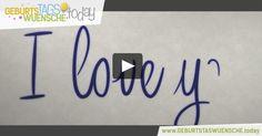 Bezauberndes Geburtstagsvideo mit einem liebevollen Geburtstagslied. Liebe Geburtstagswünsche und I Love You!