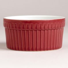 Our Red 3.5-Oz. Ramekins are perfect for presenting individual portions of food. They are ready to make a festive impact with their brilliant red color. Each highly durable ramekin is made of ceramic and is ideal for baking. Set them out to highlight special dips and sauces or crème brulée and ice cream during the holiday season or anytime.