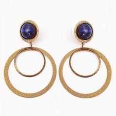 Jan Michaels Double Hoop Gemstone Earrings