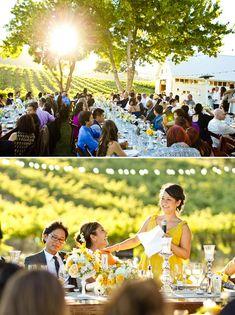 Elegant Yellow Wedding | photos by Mike Larson | Junebug Weddings | bridesmaid in BHLDN