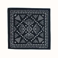 Inspired by antique type, this deluxe bandana features a super soft design representing the four elements. Bandanas, Vintage Bandana, Bandana Design, Wool Dryer Balls, Star Flower, Cotton Quilting Fabric, Bandana Print, Rolled Hem, Fabric Patterns