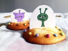 aliens in eierkoek Birthday Treats, Birthday Parties, Ufo, Alien Party, Space Party, Different Textures, Crafts To Do, Gingerbread Cookies, Tea Party
