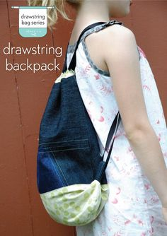 Make the Drawstring Bag from Oliver + S Little Things to Sew into a drawstring backpack : loops