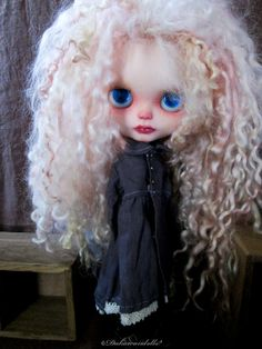 Blythe Doll outfit / Dress 1/6 doll size / Coat by Dakawaiidolls, $45.00