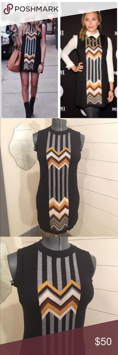 Missoni Target Black Sweater Dress XS Chevron Missoni for Target chevron dress In perfect condition, never worn!!! Very cute! Fabric does have stretch to it so it could fit a small too  Size: XS     Cleaning out my closet and my other family members! We have variation of sizes and styles check out my other stuff!!!! Missoni Dresses Mini