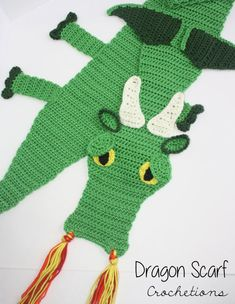Crochet PATTERN Dragon Scarf / Dragon by CrochetionsbyShell