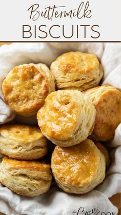 Baking Recipes, Snack Recipes, Dinner Recipes, Dessert Recipes, Buttermilk Recipes, Buttermilk Biscuits, Freezer Meals, No Cook Meals, Steak Side Dishes