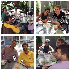 Spire team enjoying lunch on the patio and the beautiful weather today! #sf #startup #tech