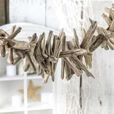 Natural Weathered Driftwood Garland - Coastal Decor - Home Decor Natural Weathered Driftwood Garland – Coastal Decor – Home Decor Beach Backdrop, Coastal Living Magazine, Driftwood Wreath, Rock And Pebbles, Stone Wrapping, Beach Wedding Decorations, Recycled Jewelry, Nature Decor, Beach Themes