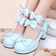 "Japanese sweet lolita princess cosplay bowknot heels Coupon code ""cutekawaii"" for 10% off"